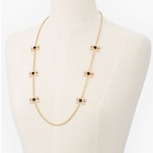 Talbots Crystal Bow Necklace